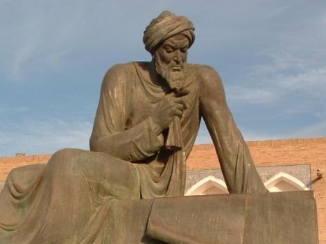 Patung perunggu Al Khawarizmi di Uzbekistan